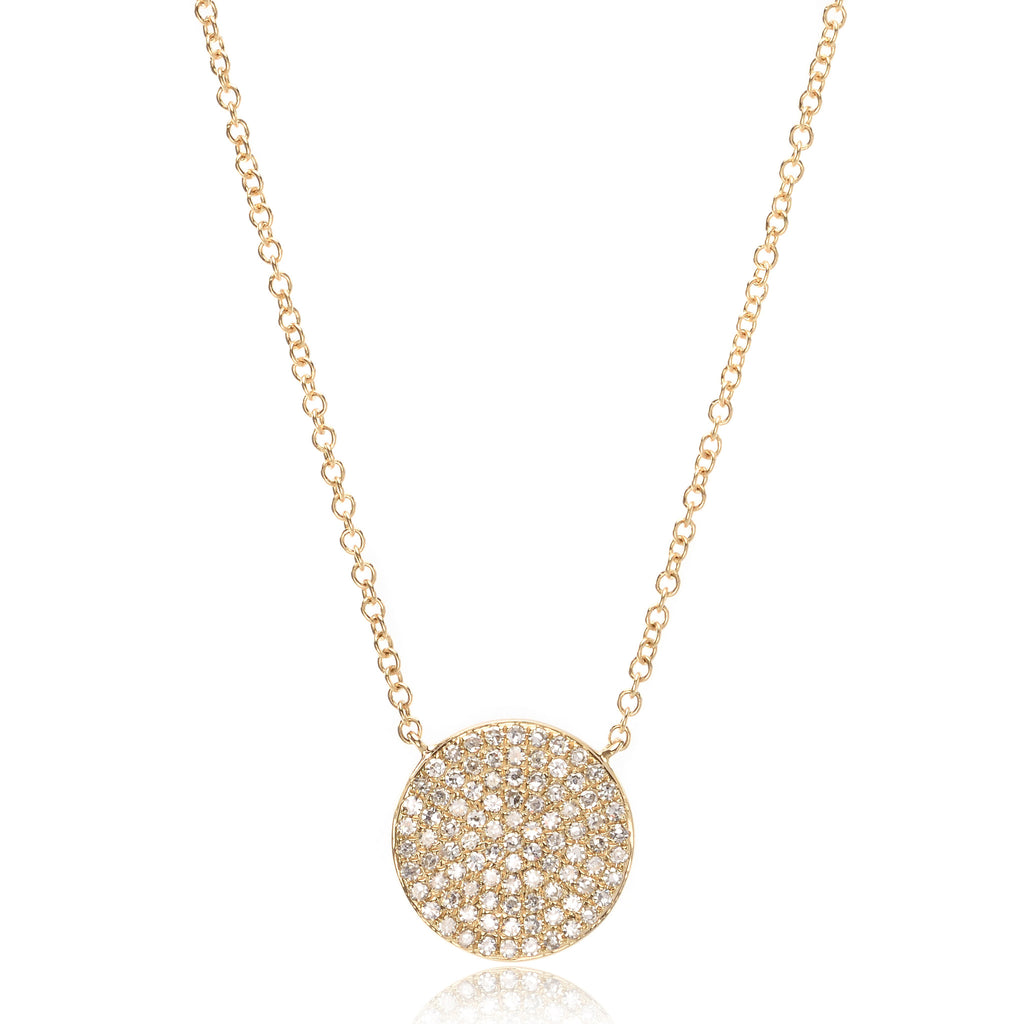 14K Yellow Gold Circle Necklace