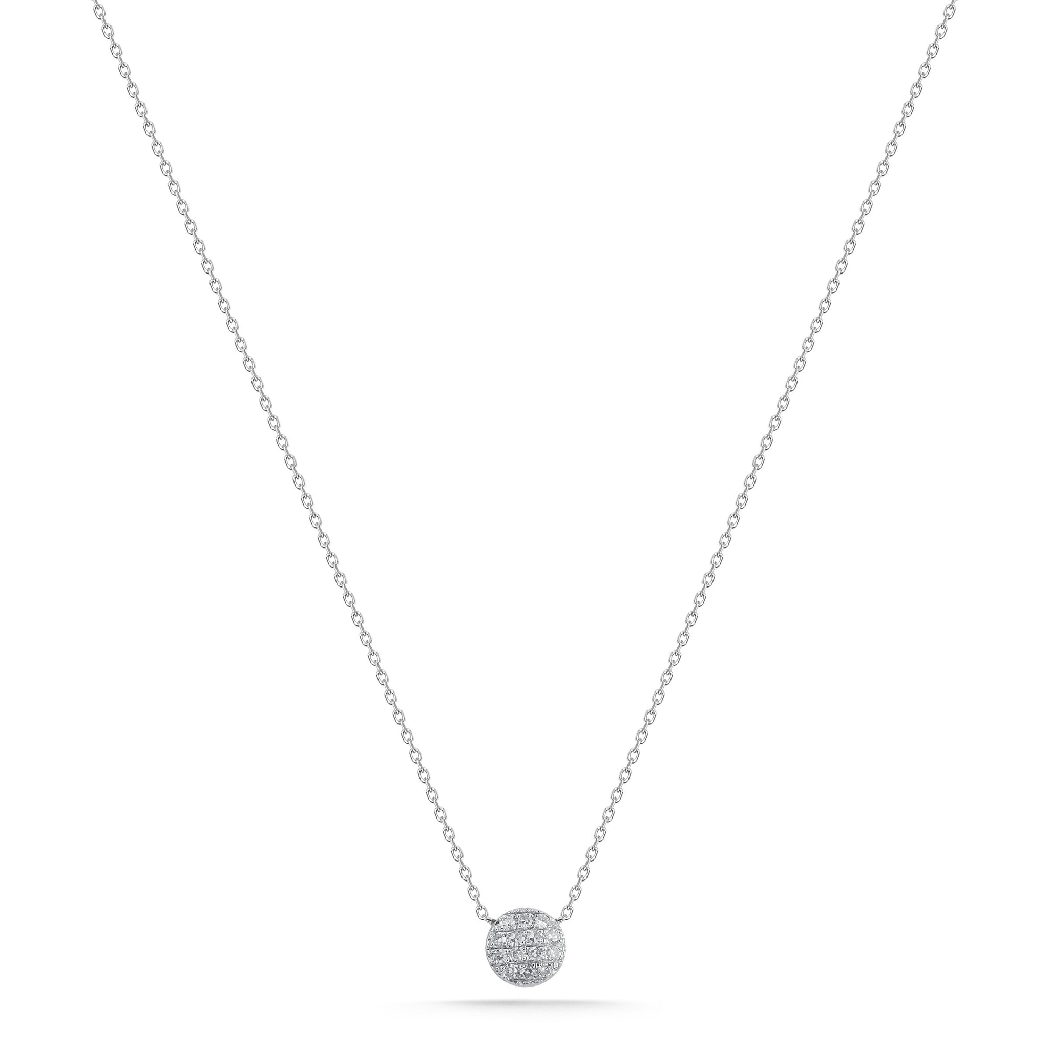 Lauren Joy 14K White Gold Mini Diamond Necklace