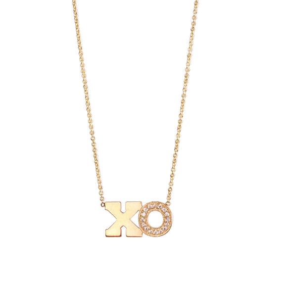 Zoe Chicco 14K Yellow Gold XO Letter Necklace