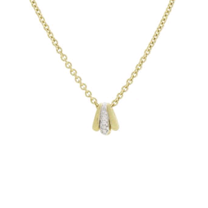 Lucia 18K Two-Tone Gold Diamond Pendant