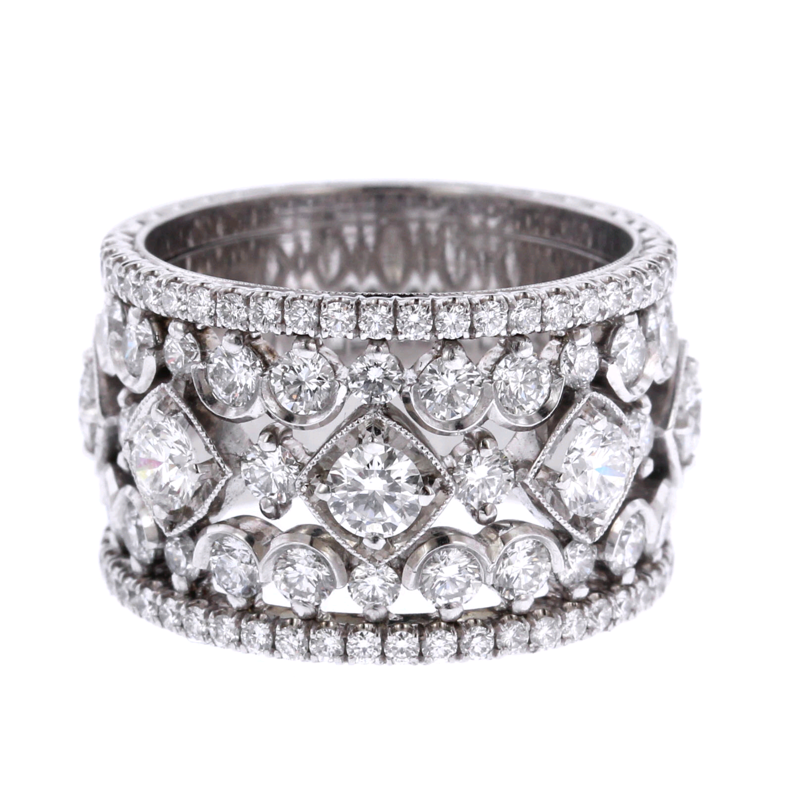 Platinum Wide Diamond Ring