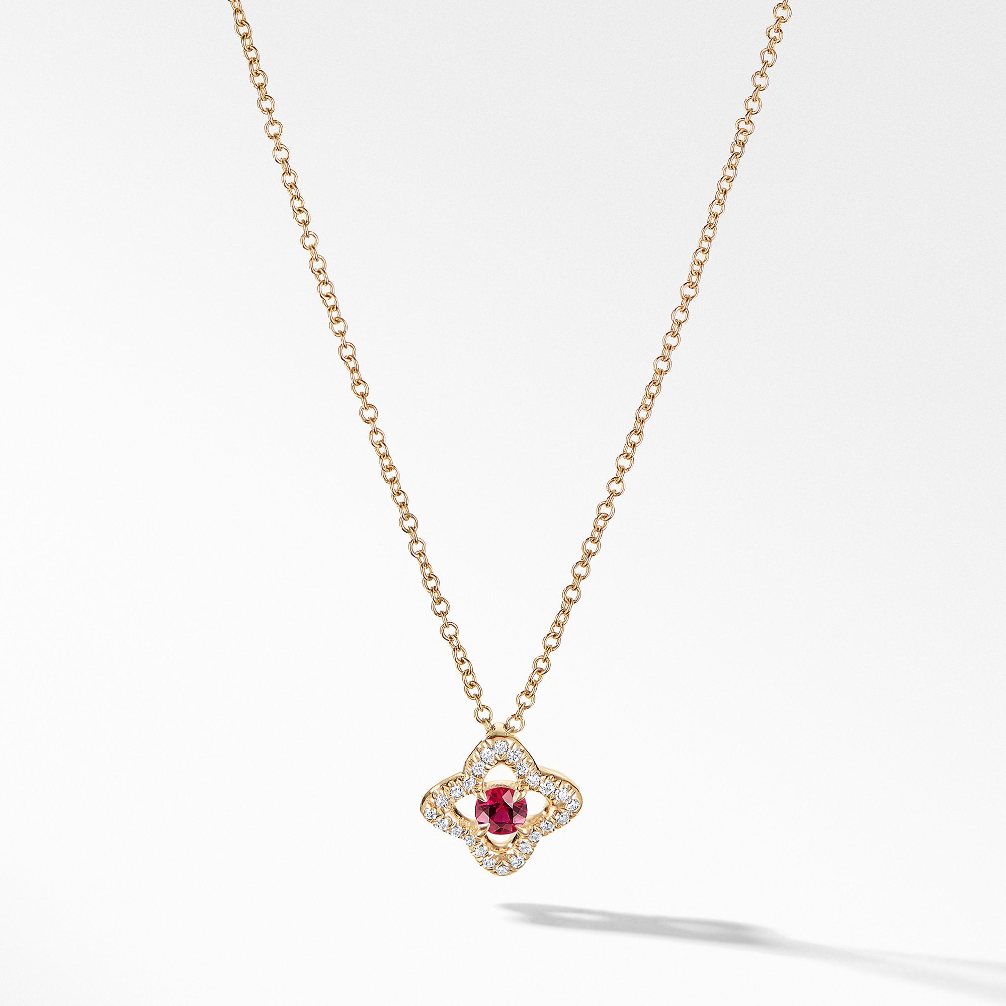 Necklace with Ruby and Diamonds in 18K Gold