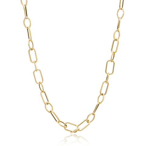 14K Yellow Gold Multi-Link Necklace