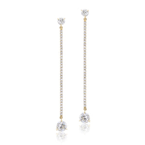 18K Yellow Gold Diamond Earrings (One-Of-A-Kind Collection)