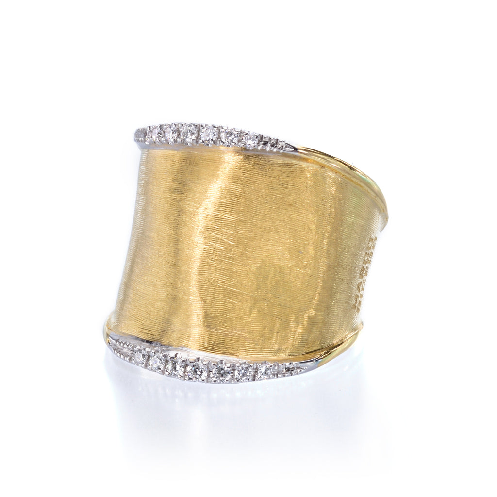Lunaria 18K Yellow Gold Ring with Diamonds