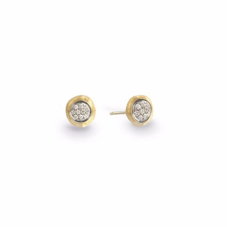 15d1773da Delicati 18K Yellow Gold & Diamond Pave Small Stud Earrings | Long's  Jewelers