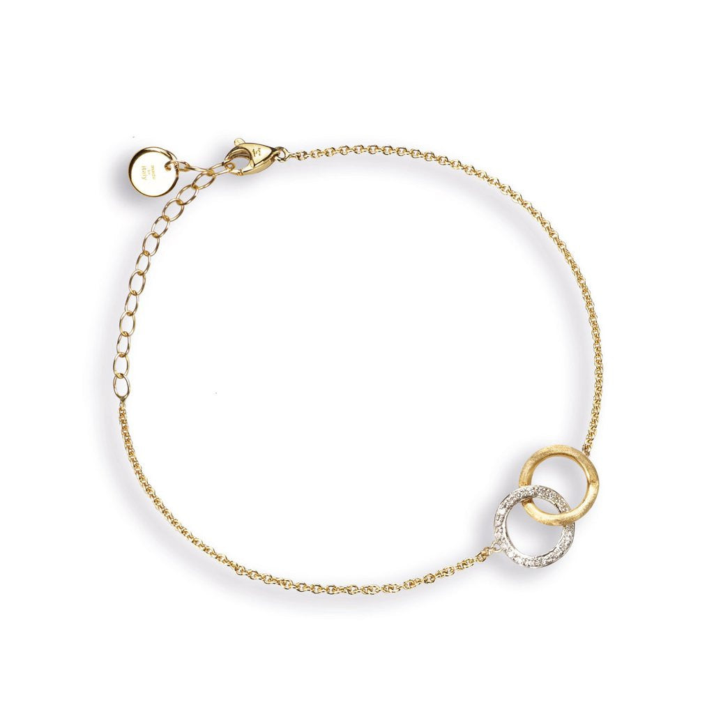 Delicati 18K Yellow Gold & Diamond Round Link Bracelet
