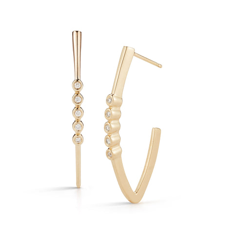 Lulu Jack 14K Yellow Gold Diamond Earrings