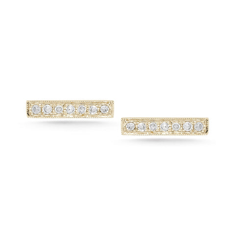 Sylvie Rose 14K Yellow Gold Diamond Bar Earrings