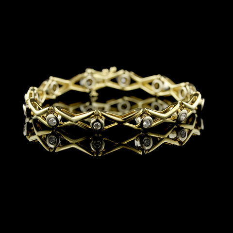 14K Yellow Gold Diamond Fashion Bracelet