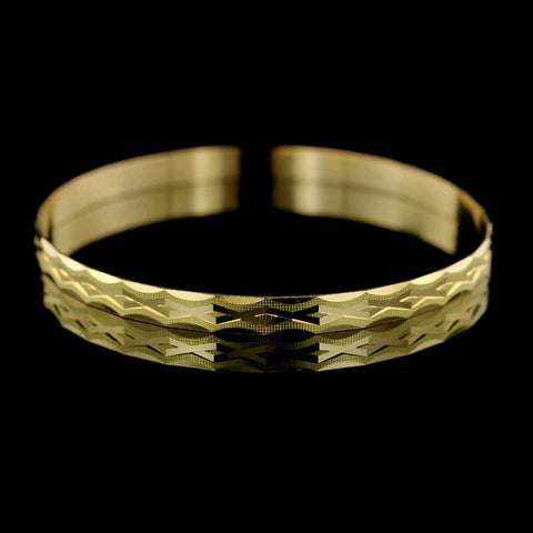 Diana Kim England 18K Yellow Gold Diamond Bangle