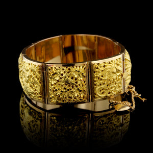18K Yellow Gold Panel Bracelet