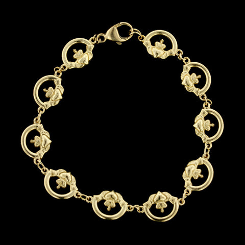 14K Yellow Gold Claddaugh Bracelet