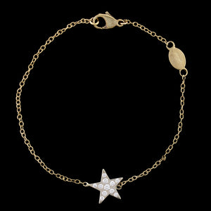 Gio Caroli 18K Yellow Gold Diamond Star Bracelet