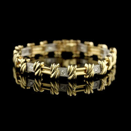 14K Yellow Gold Estate Figaro Bracelet