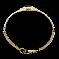 Movado 18K Yellow Gold Peridot and Diamond Bracelet