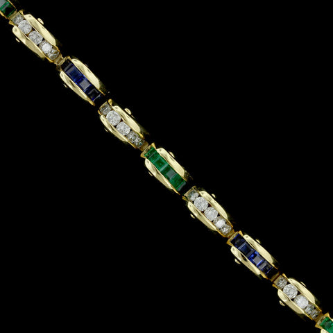 Charles Krypell 18K Yellow Gold Gem-Set Bracelet