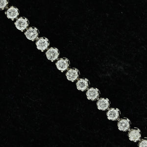 14K White Gold Estate Diamond Tennis Bracelet