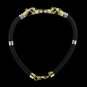 18K Two-Tone Gold Ruby Panther Head Bracelet