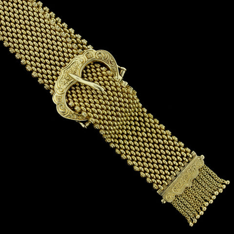 14K Yellow Gold Buckle Bracelet