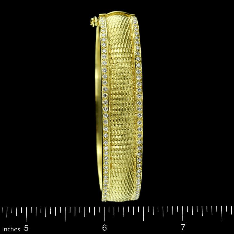 Diana Kim England 18K Yellow Gold Estate Diamond Bangle