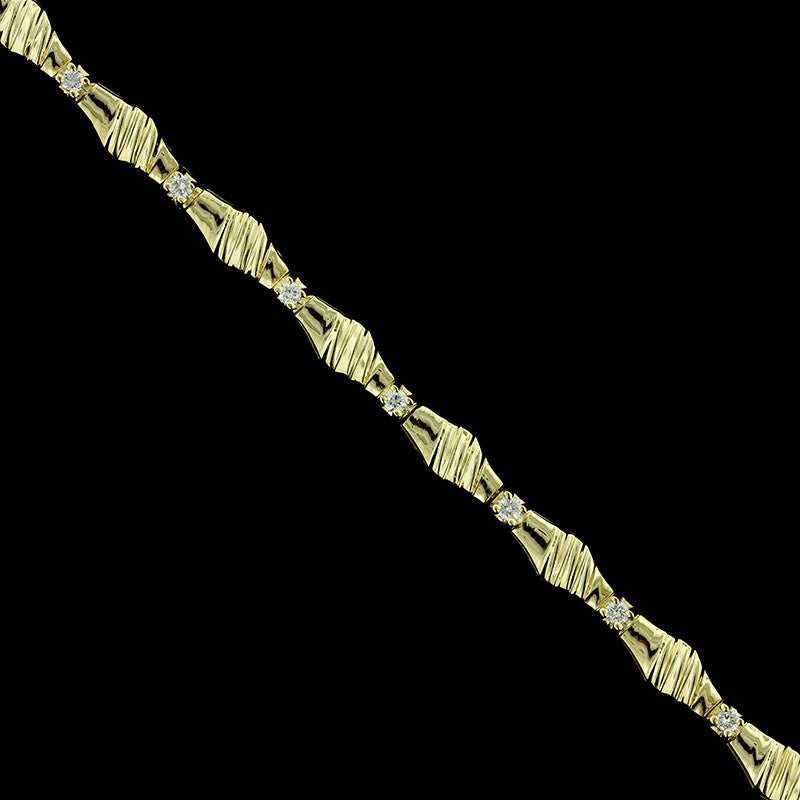 18K Yellow Gold Diamond Bracelet