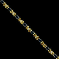 14K Yellow Gold Estate Sapphire and Diamond Bracelet