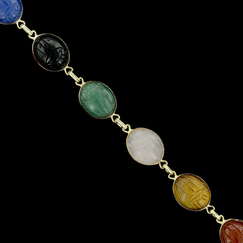 14K Yellow Gold Scarab Bracelet