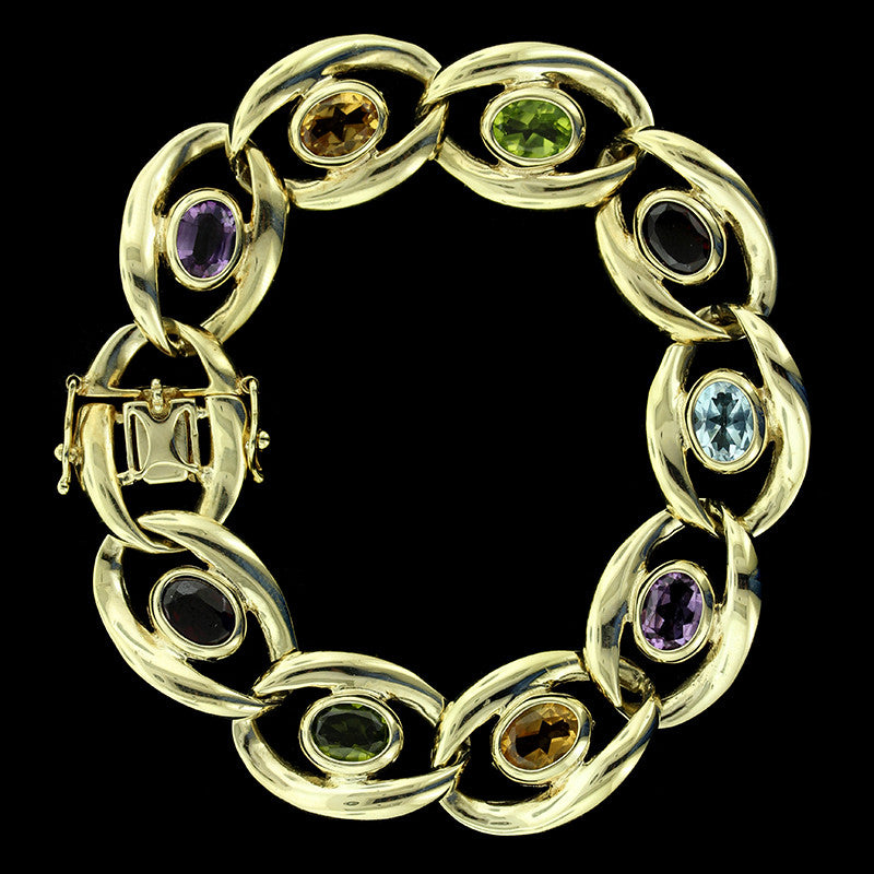 14K Yellow Gold Gem-set Bracelet