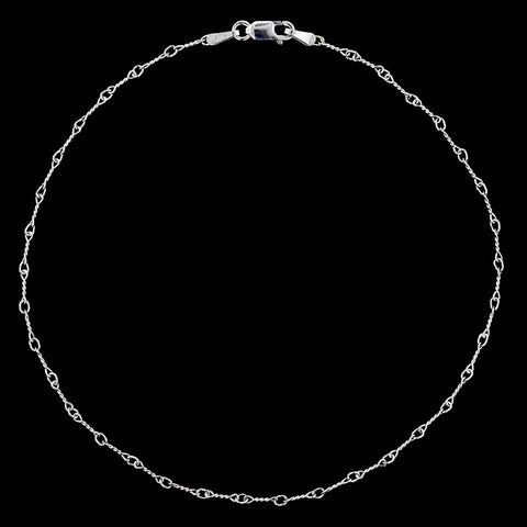 18K White Gold Anklet
