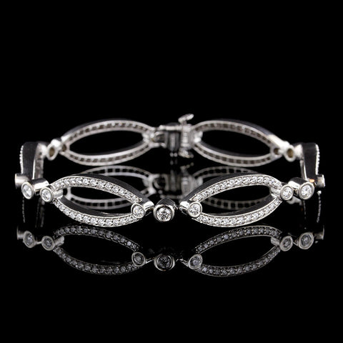 Kwiat 18K White Gold Lynx Diamond Bracelet