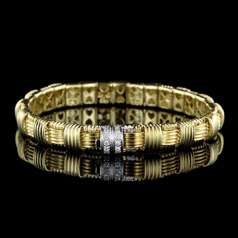 Roberto Coin 18K Yellow Gold Diamond Appasionata Bracelet