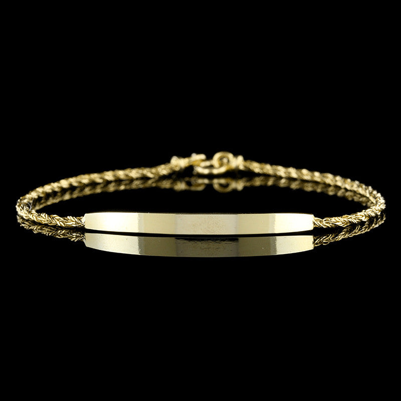 14K Yellow Gold ID Bracelet