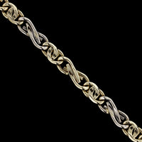 14K Two-Tone Gold Estate Fancy Link Bracelet