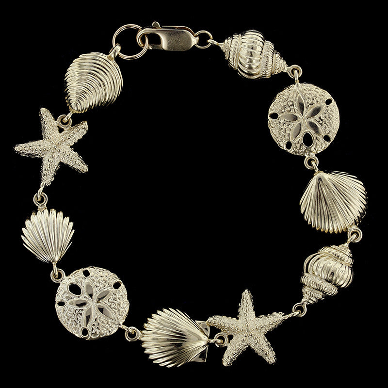 14K Yellow Gold Seashell Bracelet Longs Jewelers