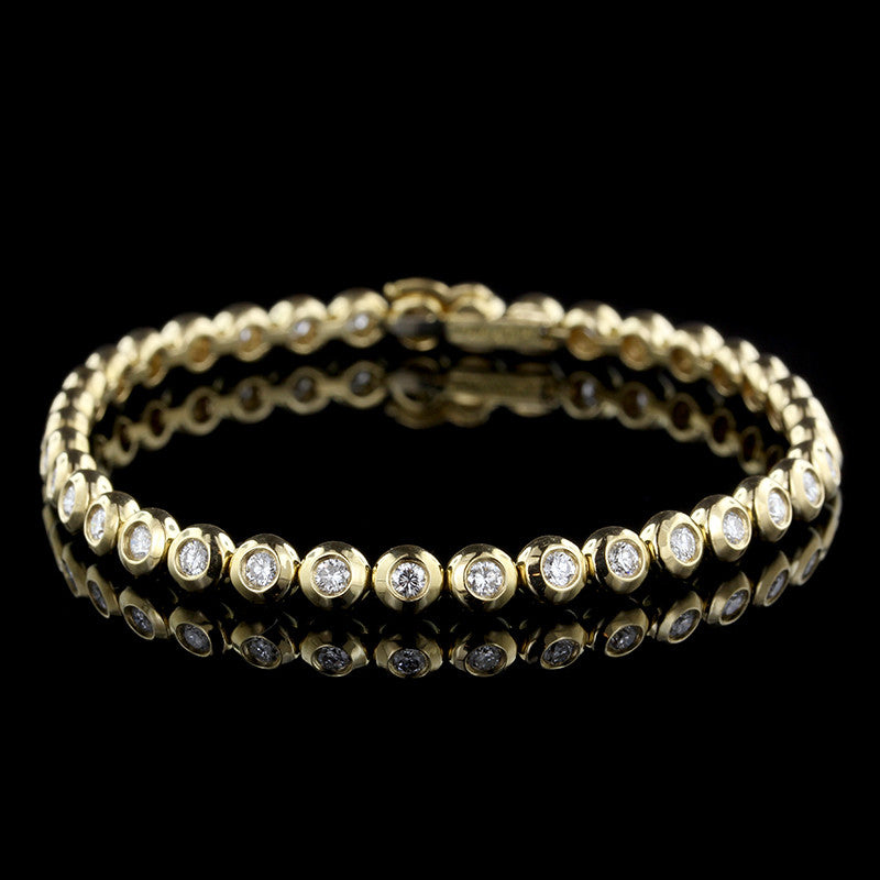 Tiffany & Co. 18K Yellow Gold Diamond Bubble Bracelet
