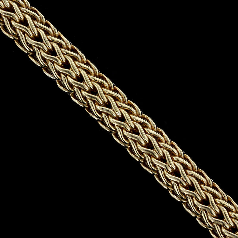 John Hardy Sterling Silver and 18K Yellow Gold Classic Chain Reversible Bracelet