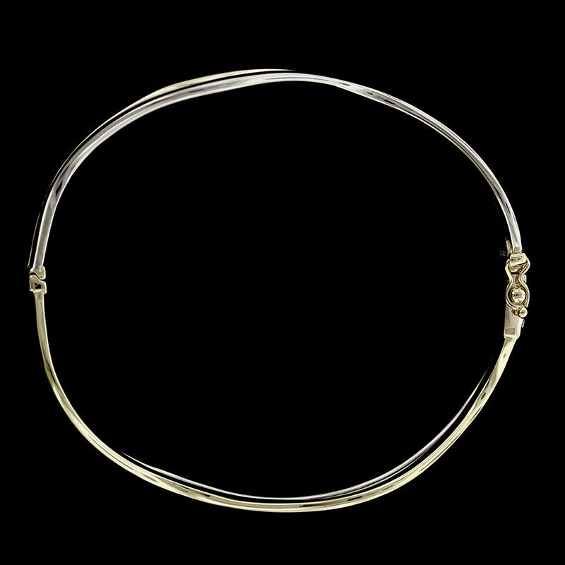 14K Two-Tone Gold Bangle
