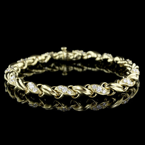 Jose Hess 18K Yellow Gold Diamond Bracelet