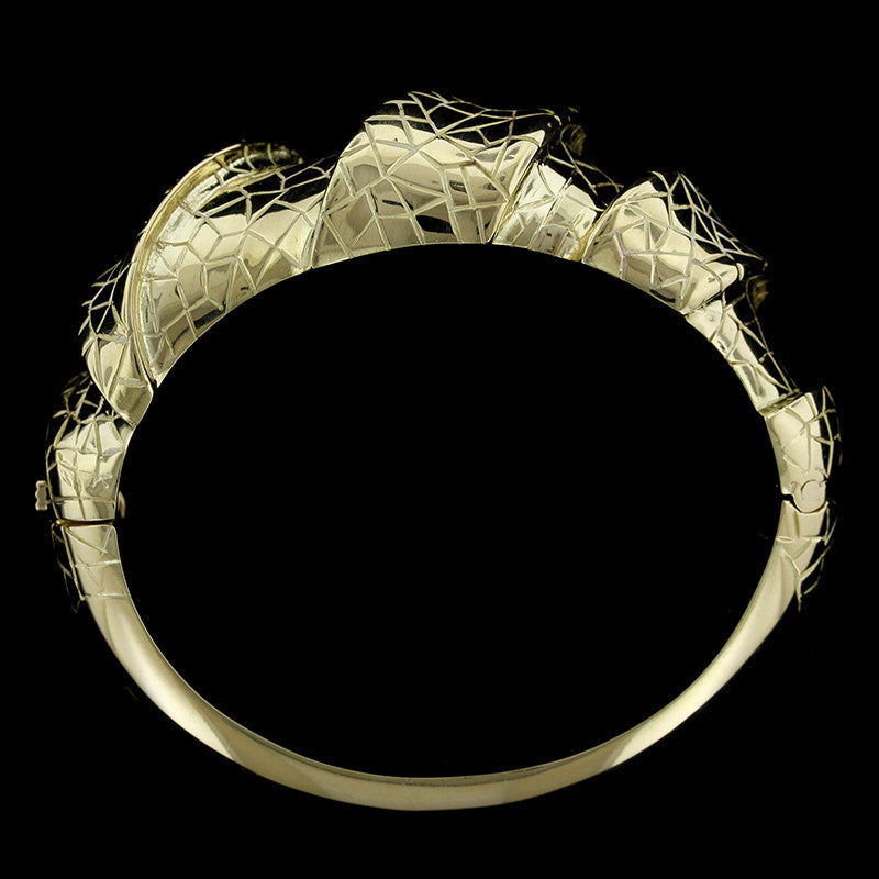 J. Roca 18K Yellow Gold Bangle