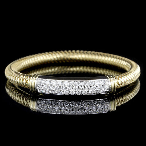 Roberto Coin 18K Two-tone Gold and Diamond Primavera Bracelet