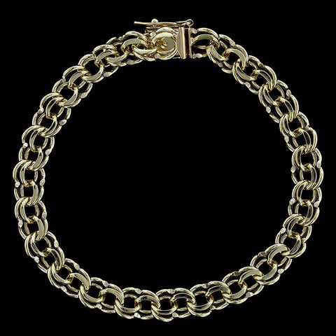 14K Yellow Gold Fancy Link Chain