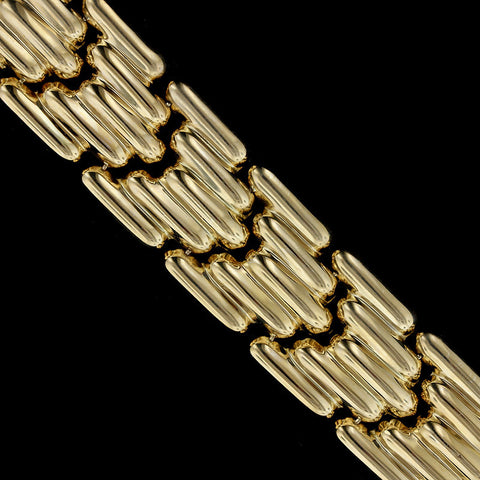 14K Yellow Gold Bar Link Bracelet