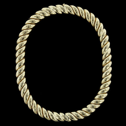 14K Yellow Gold Twisted Bangle
