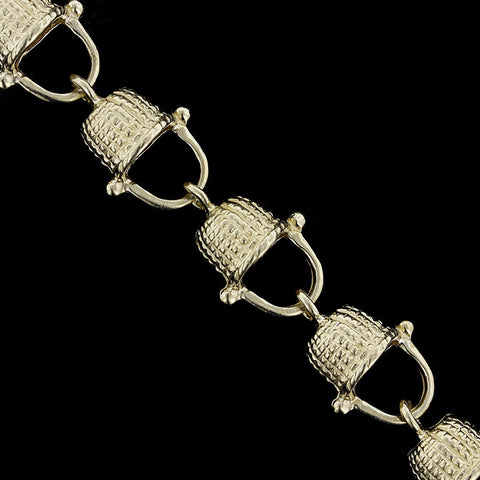 14K Yellow Gold Nantucket Basket Bracelet