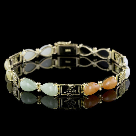 18K Yellow Gold Gem-set Bracelet