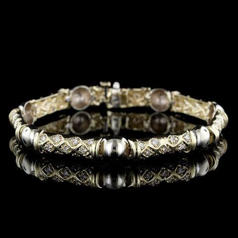 John Hardy Sterling Silver and 18K Yellow Gold Triple Twist Dot Bracelet