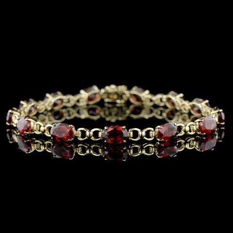 18K Yellow Gold Enamel and Diamond Bracelet