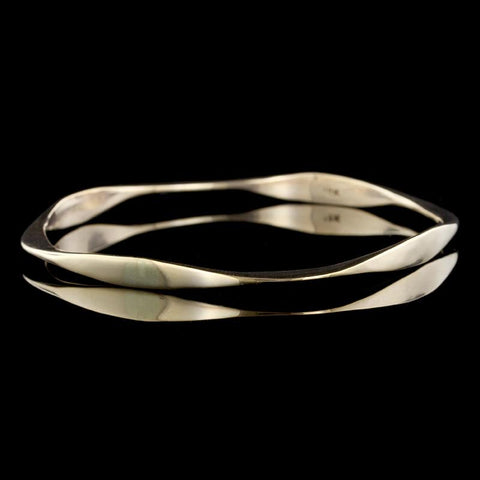 14K Yellow Gold Engraved Bangle