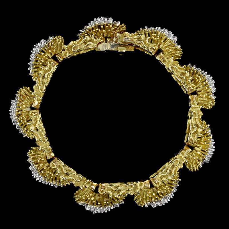 Hammerman Bros. 18K Yellow Gold Diamond Bracelet